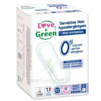 Love & Green Serviettes écologiques Maxi-nuit Paquet/12 à MARSEILLE