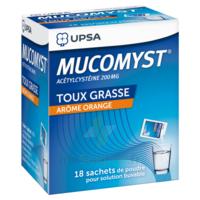 MUCOMYST 200 mg Poudre pour solution buvable en sachet B/18 à MARSEILLE