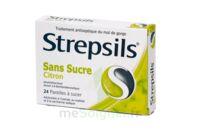 Strepsils Citron Sans Sucre, Pastille édulcorée à L'isomalt, Au Maltitol Et à La Saccharine Sodique à MARSEILLE
