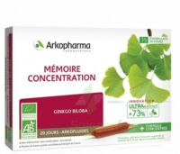 Arkofluide Bio Ultraextract Solution buvable mémoire concentration 20 Ampoules/10ml à MARSEILLE