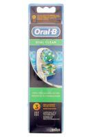 BROSSETTE DE RECHANGE ORAL-B DUAL CLEAN x 3 à MARSEILLE