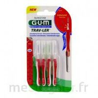 GUM TRAV - LER, 0,8 mm, manche rouge , blister 4 à MARSEILLE