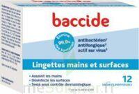 Baccide Lingette désinfectante mains & surface 12 Pochettes à MARSEILLE
