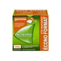 Nicorette 2 Mg Gomme à Mâcher Médicamenteuse Sans Sucre Fruits Plq/210 à MARSEILLE