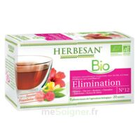 Herbesan Hibiscus Bio Tisane élimination 20 Sachets à MARSEILLE