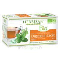 Herbesan Infusion Bio Tisane digestion facile 20 Sachets à MARSEILLE