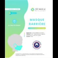 Masque barrière non médical Enfant (4/10 ans) Blancs B/6 à MARSEILLE