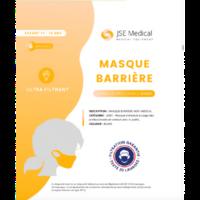 Masque barrière non médical Enfant (11/16 ans) Blancs B/6 à MARSEILLE