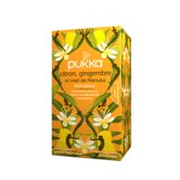 Pukka Bio Citron, Gingembre Et Miel De Manuka Tisane Immunité Citron Gingembre Miel De Manuka 20 Sachets à MARSEILLE